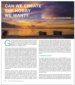 Reef Hobbyist Magazine