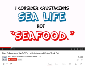 """Fred Schneider's """"Let Lobsters and Crabs 'Rock On'"""" video on YouTube"""