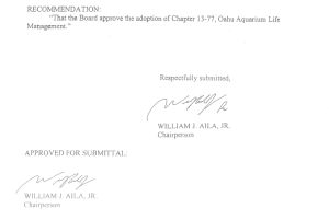 The Submittal for the O'ahu Rules Package Lacks McGilvray's Signature