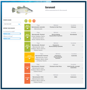 Monterey Bay Aquarium's Seafood Watch program identifies Australis' farmed barramundi from Vietnam as a Best Choice.""